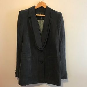 7 for all Mankind Cupro Tuxedo Style Blazer Jacket